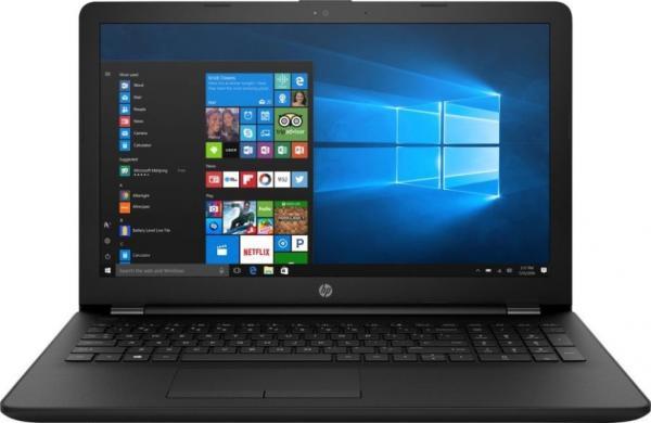 """Ноутбук 15"""" HP 15-ra055ur (3QT88EA), Celeron N3060 1.6 4GB 500GB 2*USB2.0/USB3.0 LAN WiFi BT HDMI камера SD 2.23кг W10 черный"""