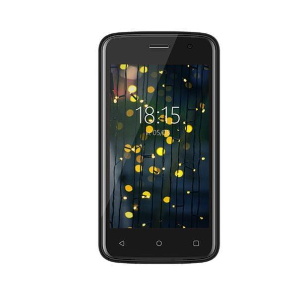 "Смартфон 2*sim BQ BQ-4001G COOL, Spreadtrum 4*1.3ГГц, 4"" 800*480, 8Гб, 512Мб, SD-micro, GSM/3G, BT, WiFi, G-sensor, 2 камеры 5/2Мпикс, Android GO 8.1, 1300мАч, 64.7*125.6*11.3мм 120г, черный"