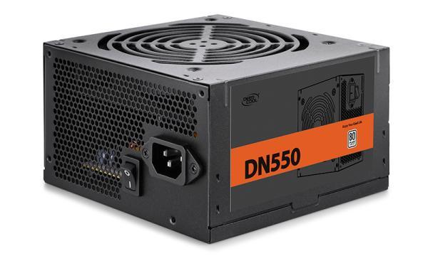 БП для корпуса ATX Deepcool DN550, 550Вт, 80 PLUS, 24+8pin, 4+4pin(CPU)/ 2*6+2pin(PCI-E)/ 3*4pin(molex)/5*SATA, 120*120мм, Active PFC