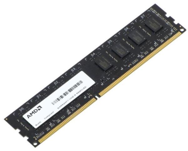 Оперативная память DIMM DDR3  8GB, 1333МГц (PC10600) AMD R338G1339U2S-UO, 1.5В