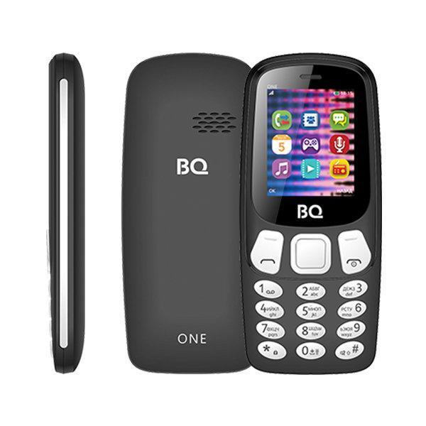 """Мобильный телефон 2*SIM BQ BQ-1844 One, GSM850/900/1800/1900, 1.77"""" 160*128, BT, SD-micro/SDHC-micro, радио, MP3 плеер, без ЗУ, черный"""