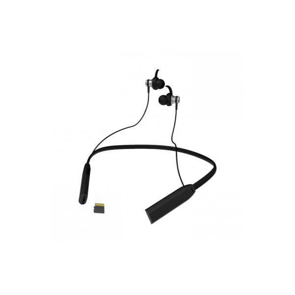 Наушники с микрофоном беспроводные BT вставные Ritmix RH-428BTH, 20..20000Гц, Bluetooth 4.2, MicroSD, MP3/WMA/WAV, MicroUSB, регулятор громкости, 4ч, ободок, черный
