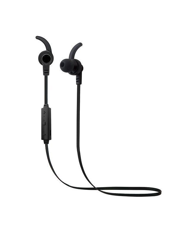 Наушники с микрофоном беспроводные BT крепление на ухе вставные Smarterra BTHS-5, 20..20000Гц, Bluetooth 4.1, A2DP/AVRCP/HFP/HSP, регулятор громкости, магнит, черный