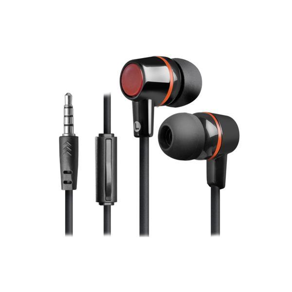 Наушники с микрофоном проводные вставные Defender Pulse 428, 20..20000Гц, кабель 1.2м, MiniJack, позолоченные контакты, черный