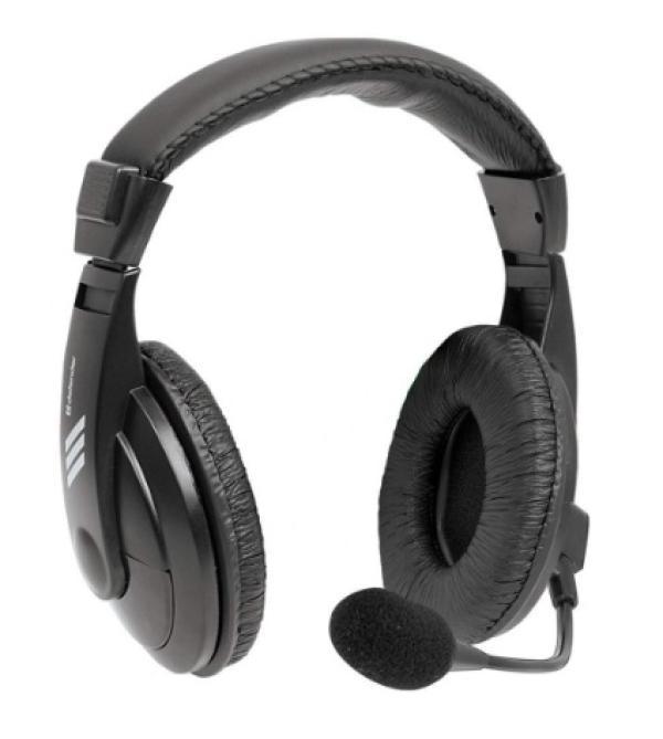 Наушники с микрофоном проводные дуговые закрытые Defender Gryphon 750, 40мм, 18..20000Гц, кабель 2м, 2*MiniJack, регулировка громкости, динамические, черный