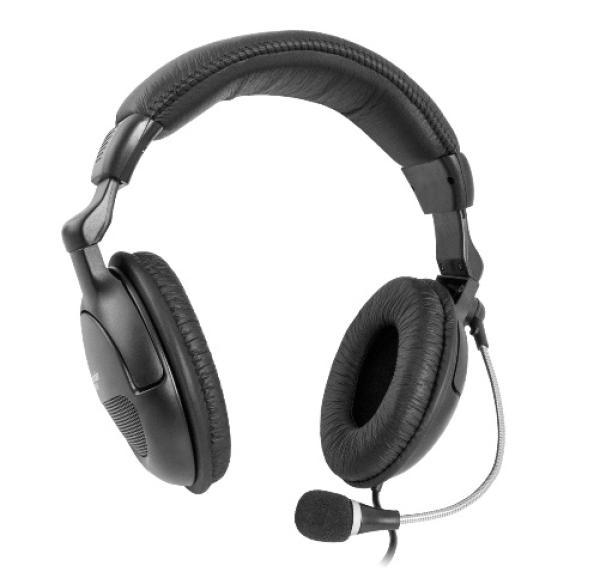 Наушники с микрофоном проводные дуговые закрытые Defender Orpheus HN-898, 40мм, 18..20000Гц, кабель 3м, 2*MiniJack, регулировка громкости, динамические, черный