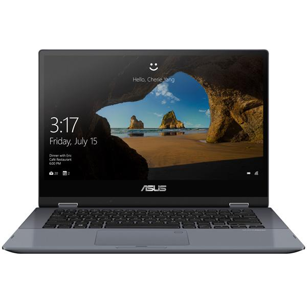 "Ноутбук сенсорный 14"" ASUS TP412UA, Core i5-8250U 1.6 4GB 1Tb SSD 1920*1080 USB2.0/USB3.0 LAN WiFi BT HDMI камера SD стилус 1.33кг W10 серый"
