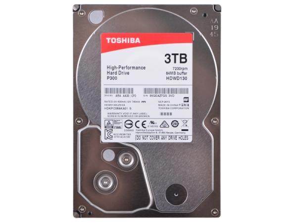 "Жесткий диск 3.5"" SATA  3TB Toshiba P300 HDWD130UZSVA, SATAIII, 7200rpm, 64MB cache"